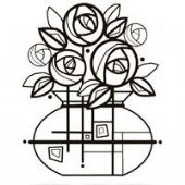 Woodware - Deco Roses - Clear Magic Single Stamp - FRS021